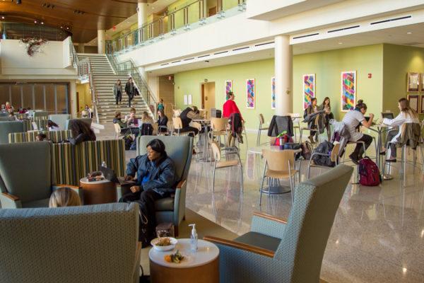 photo of the Cooper Hall atrium