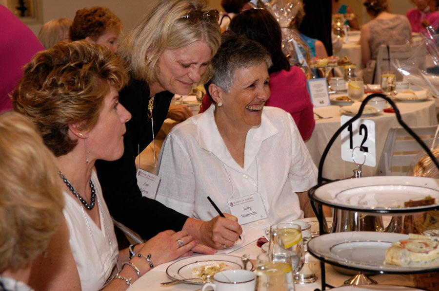 photo of attendees at an alumni event, a historical tea in 2006