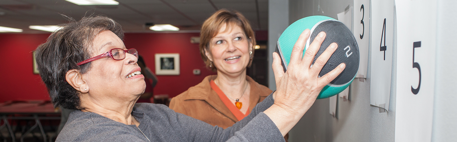 photo of an older adult participant in a fall prevention program