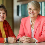 photo of Barbara King and Barbara Bowers, of the UW–Madison School of Nursing, who have both been honored by the Midwest Nursing Research Society