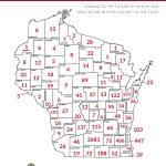 Map of School of Nursing alumni by county